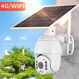 Electrobest.eu Ηλιακή κάμερα 4G αυτόνομη χωρίς ρεύμα - Περιστρεφόμενη αδιάβροχη κάμερα με ηλιακό πάνελ και καταγραφή σε sd card με κάρτα sim -